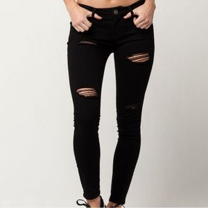 RSQ TILLYS Ibiza skinny black jeans size 7
